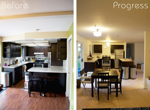 Petite Modern Life: Rambler Kitchen Remodel Progress