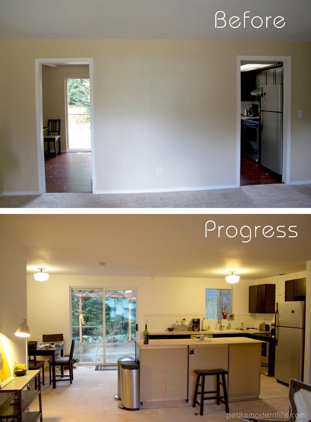 Petite Modern Life: Rambler Remodel Progress