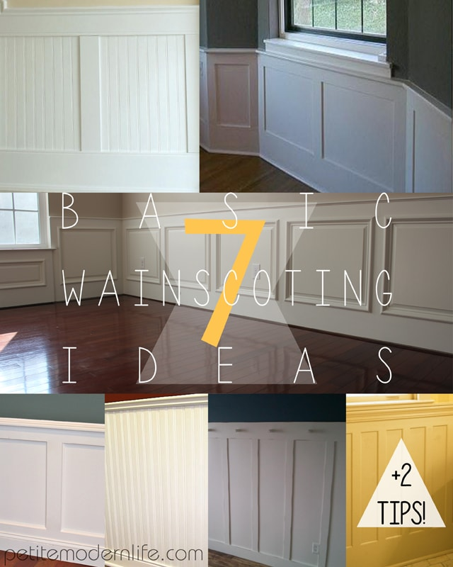 7 Basic Wainscoting Ideas
