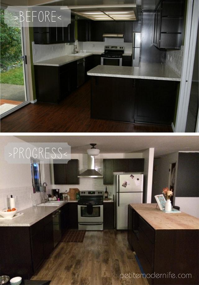 Budget Kitchen Remodel Progress