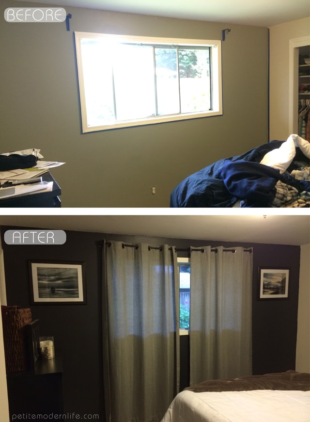 Bedroom Accent Wall Before & After