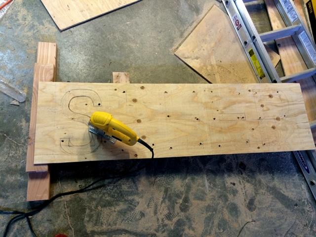 Plywood Cut SLEEP Sign