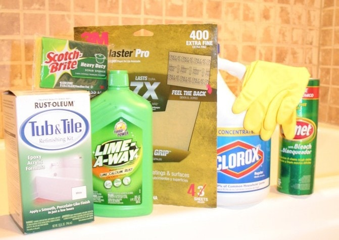 Tub + Tile Cleaning Supplies