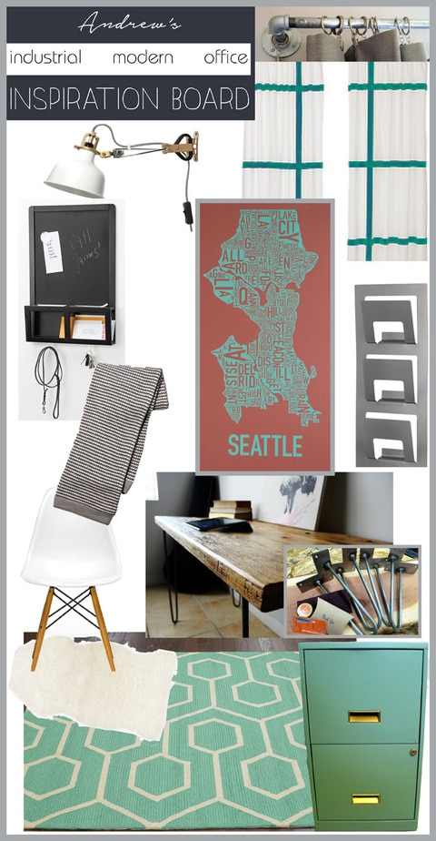 Industrial Modern Office Inspiration Board