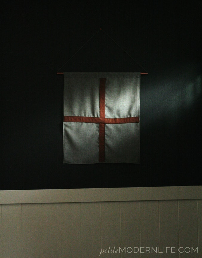 DIY Leather & Linen Flag with Copper Pipe