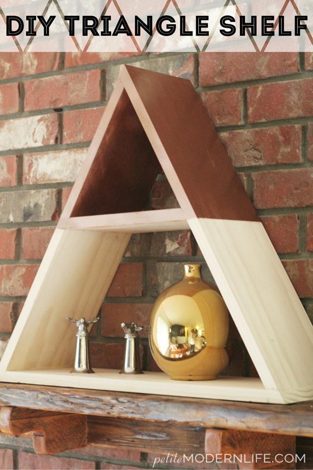 Wood Triangle Shelves Diy Reclaimed