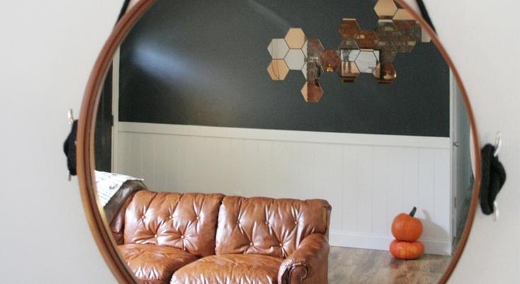 DIY Copper Captain's Mirror