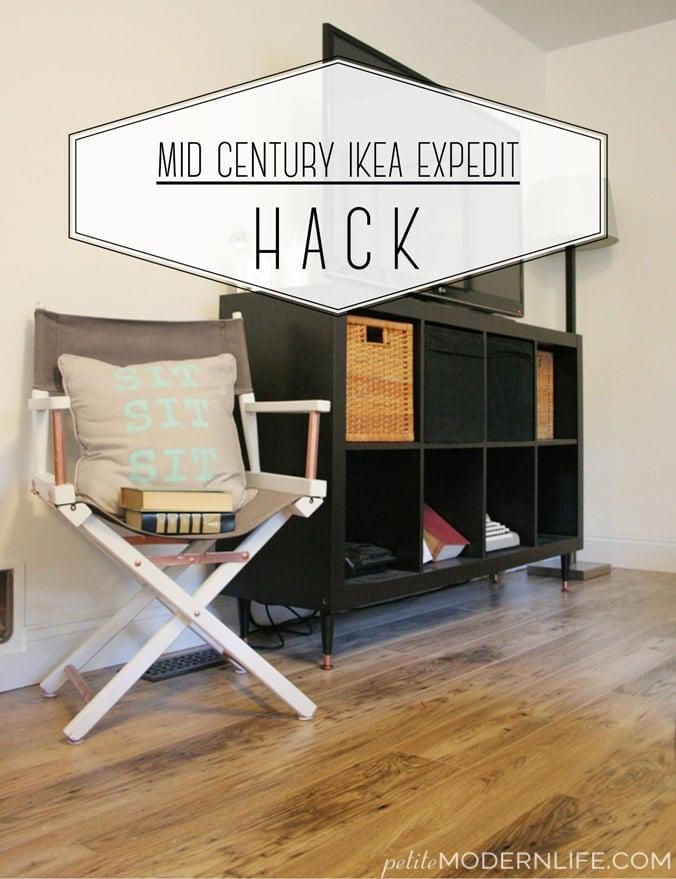 Mid Century Ikea Expedit Hack