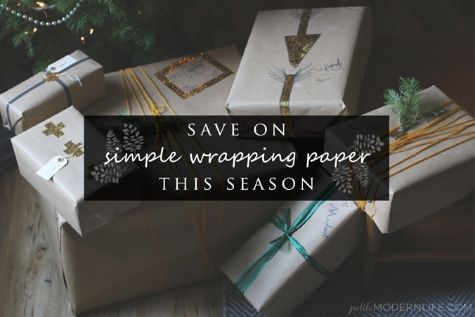 Great tips for saving on simple + lovely wrapping paper! Love this style!