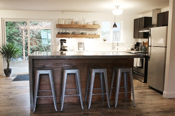 DIY Concrete Island Reveal is on Remodelaholic!