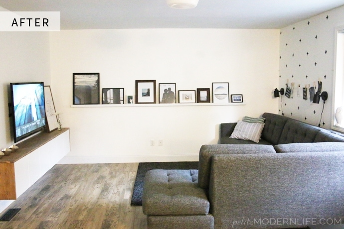 Gorgeously simple Scandi living room reveal on Petite Modern Life