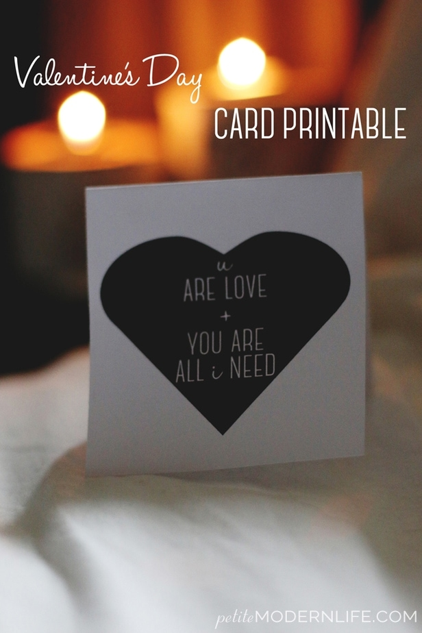 valentine's Day Card Printables
