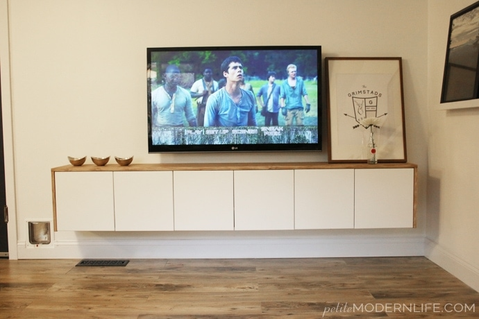 DIY Floating Sideboard by Petite Modern Life >>and Ikea hack!