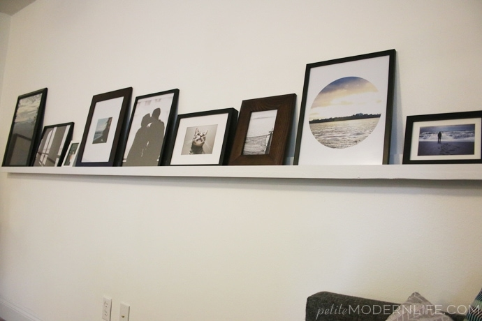 This DIY Picture Ledge is a sweet, simple and inexpensive way to dress up your wall! And the free photographs and deco prints are awesome!
