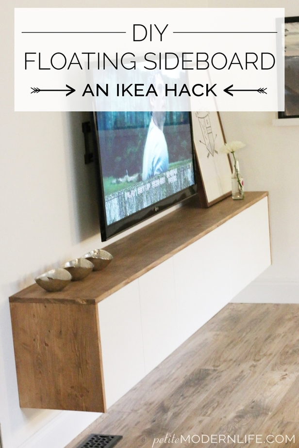 Diy Floating Sideboard Tutorial Petite Modern Life