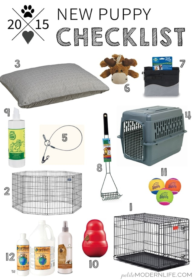 New puppy checklist petite modern life for Things you need for a house