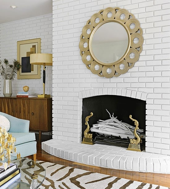 bhg white fireplace