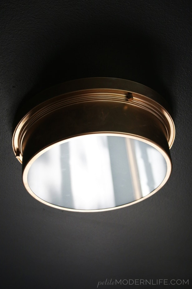 This simple light makeover only costs $59 and looks like it's right out of a Restoration Hardware Magazine!