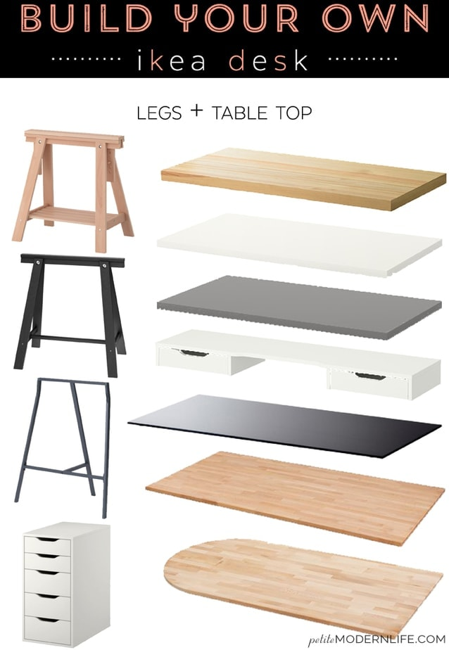 Build your own modern + sleek desk for as low as $26 (like this pretty ...