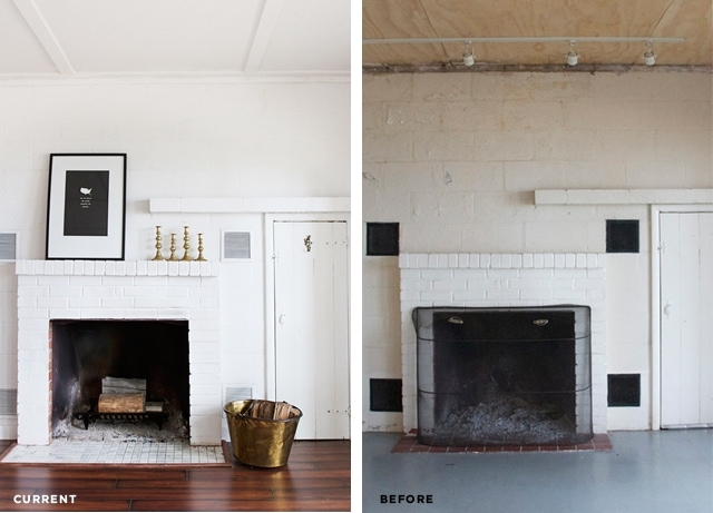 Smitten Studio // White Fireplace