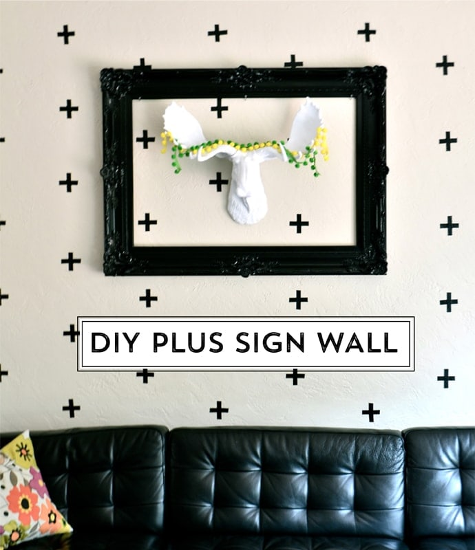 Diy Wall Draping For Weddings That Meet Interesting Decors: Jenea's DIY Plus Sign Wall