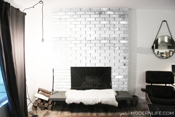 Fireplace Makeover Plans Red To White On Pee Modern Life