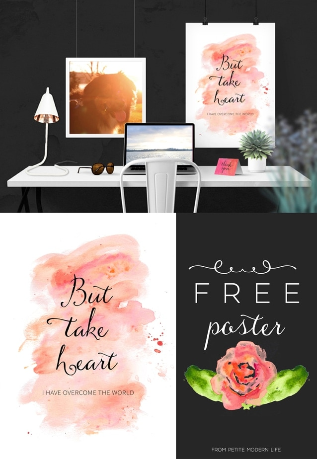 But take heart free printable | Petite Modern Life