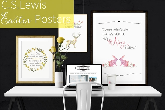 C.S. Lewis quote Easter posters that are so sweet + true
