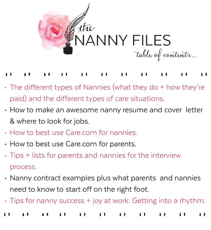 Nanny Contracts Nanny Contract Nanny Contracts Nanny Child Homework