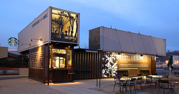 Seattle Container Store Starbucks