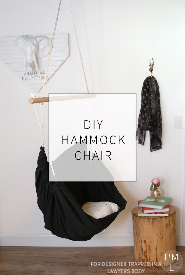 Amazing tutorial for a DIY Hammock Chair that you can have IN the house. Such a creative office space!