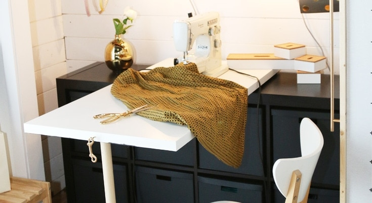 DIY Fold Down Sewing Table