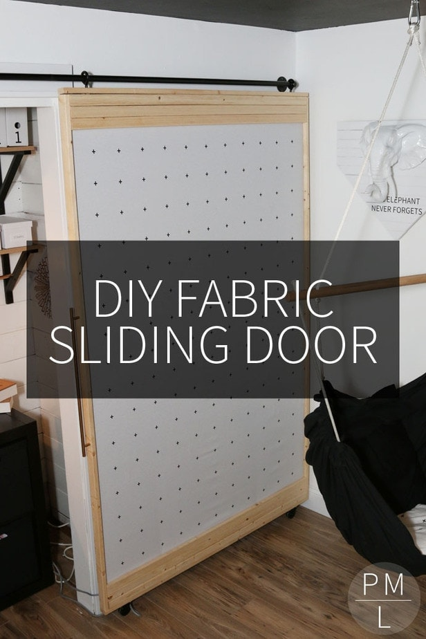 Diy Fabric Sliding Door Petite Modern Life