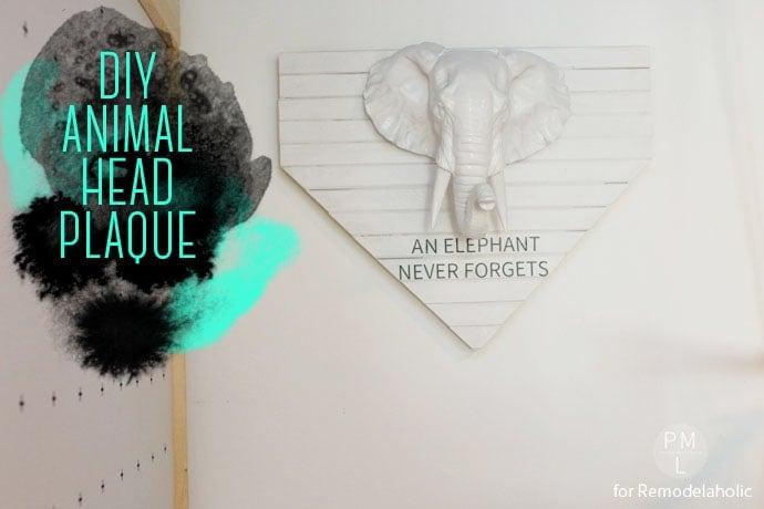 DIY Animal Head Plaque