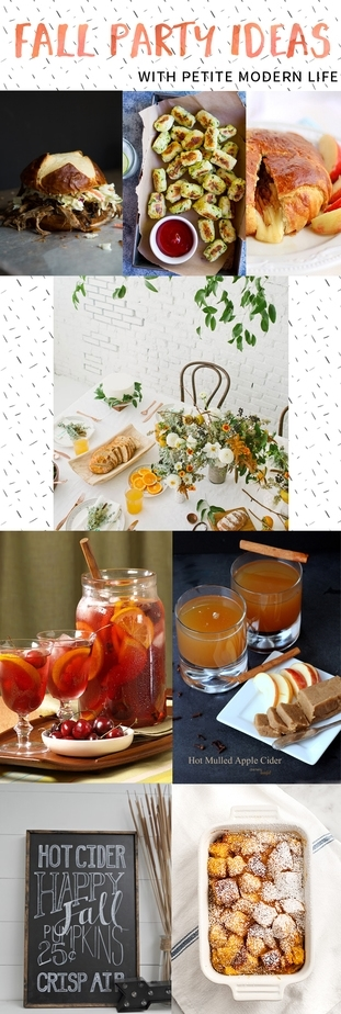 The perfect menu and atmosphere for a cozy fall party. LOVE these ideas!