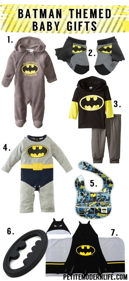 ADORABLE batman themed baby clothes and gifts!