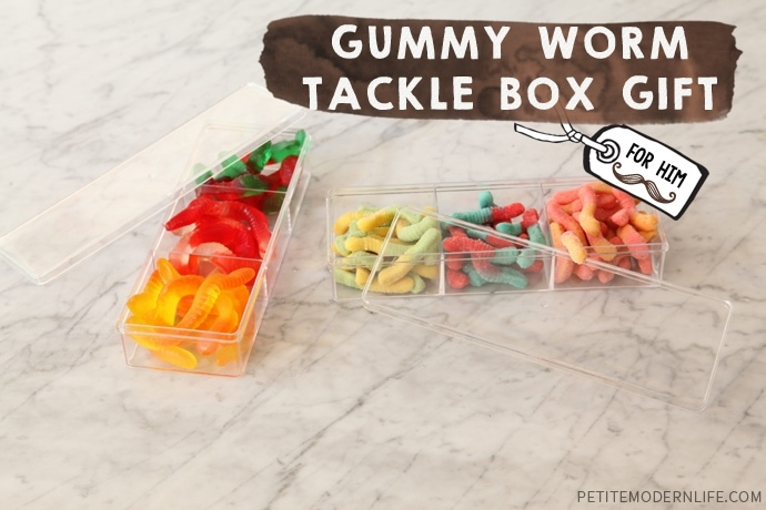 DIY Gummy Worm Tackle Box Gift