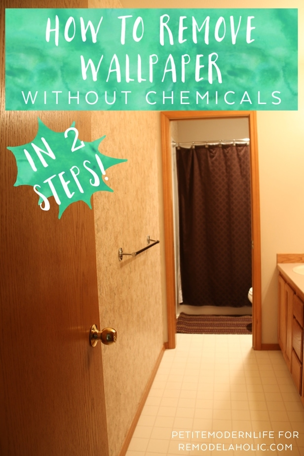 How to Remove Wallpaper Without Chemicals in 2 Steps!