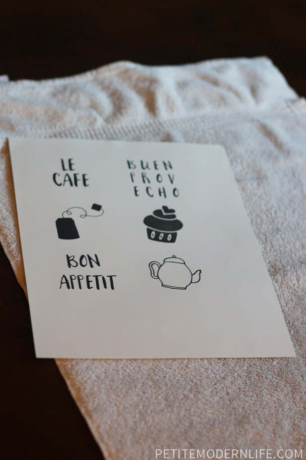 tea towel print
