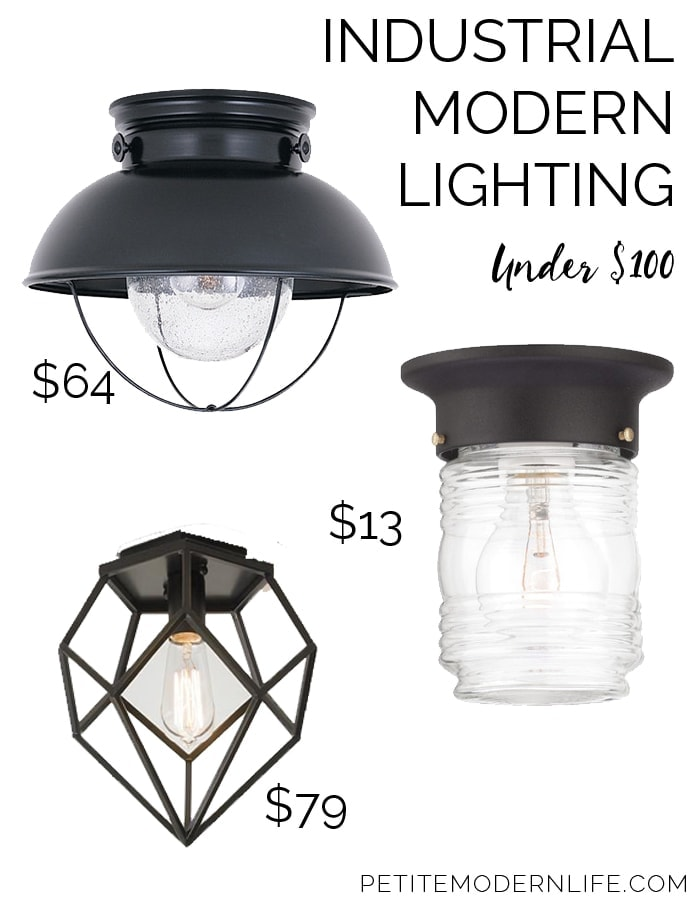 Industrial Modern Light Fixtures Under $100