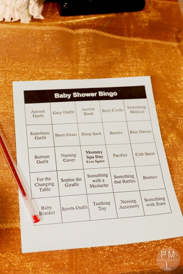 A simple winter star themed baby shower with games and menu details