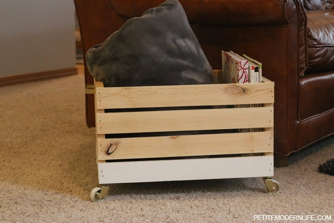 A 3 step blanket box that is modern, chic and multi-purpose!