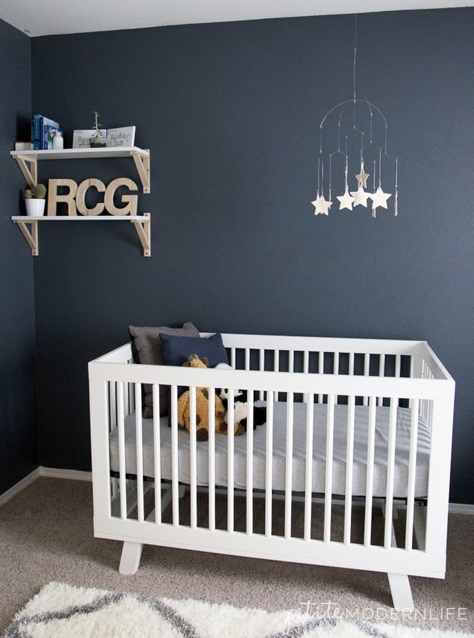Space Themed Nursery with sources | Petite Modern Life