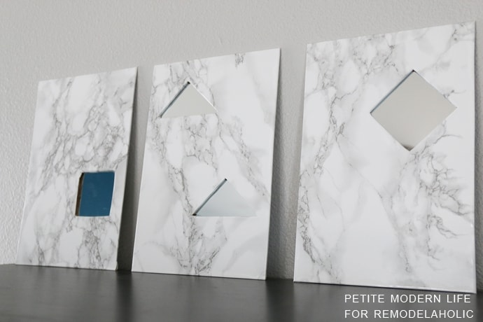 Get a little fancy with a few craft pieces from Joann's and a cheap purchase from Amazon to make these fun DIY Marble Mirrors!