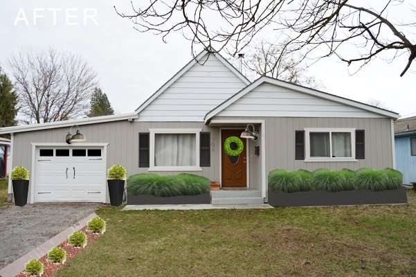 Inexpensive curb appeal ideas your home! | Petite Modern Life