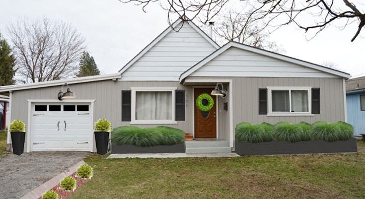 Inexpensive curb appeal ideas your home!   Petite Modern Life