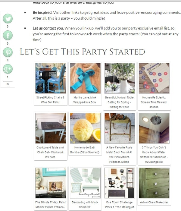 Visit this DIY Link Party to get a feel for how they work!