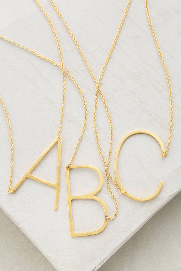 Mother's Day gifts 2016 | monogrammed necklace | Petite Modern Life