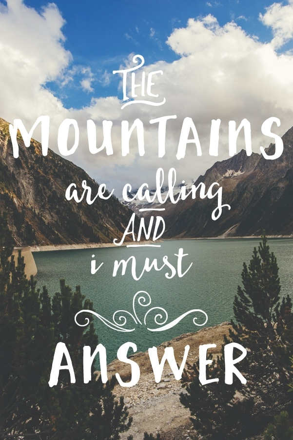 summer bucket list: the mountains are calling