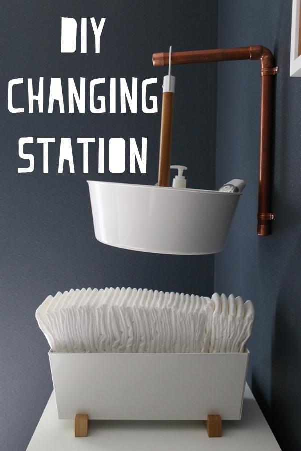 Awesome modern DIY Changing Station